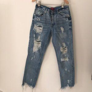 Akira distressed jeans